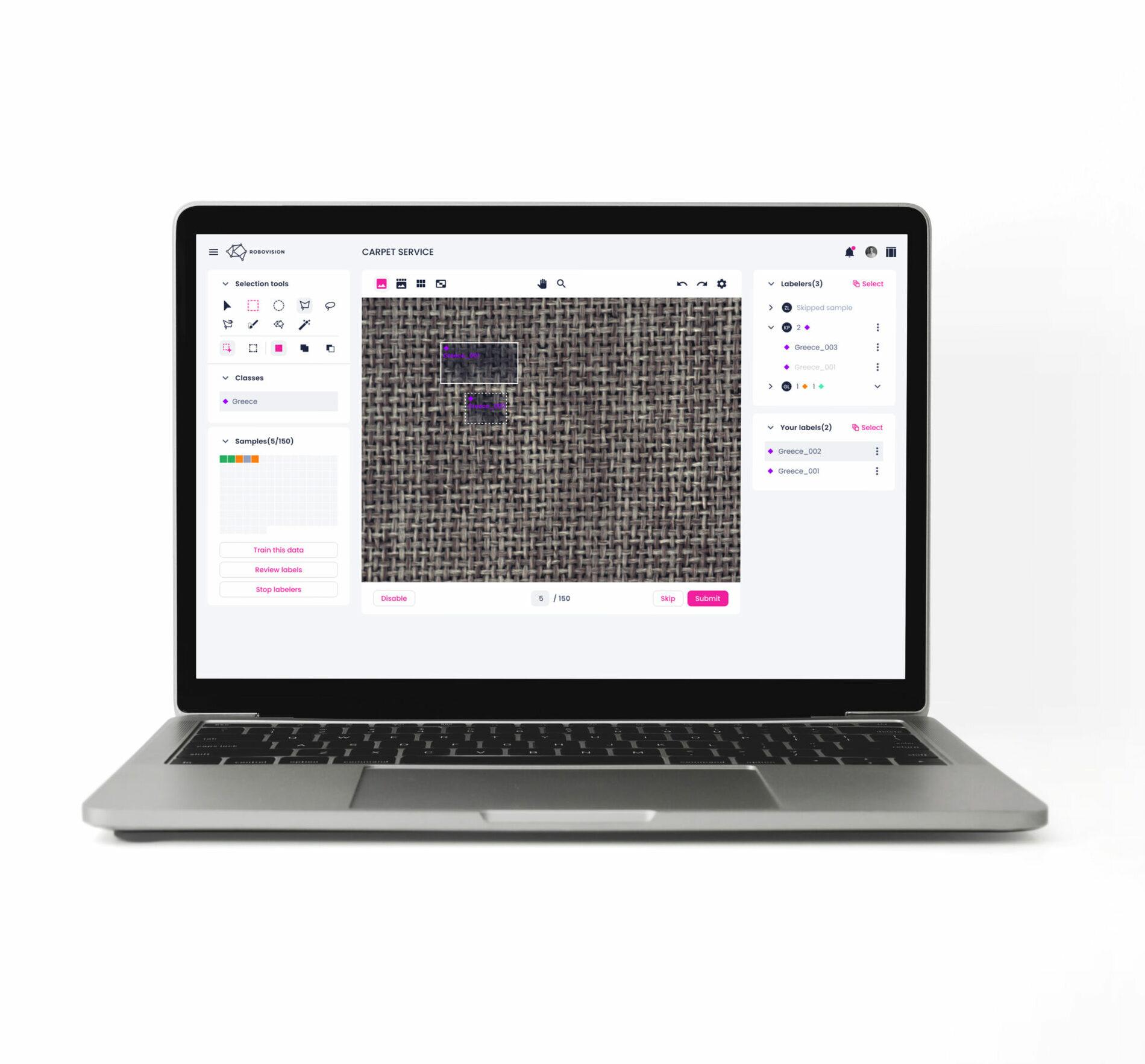 Robovision platform